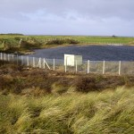 The new replacement fencing at the quarry